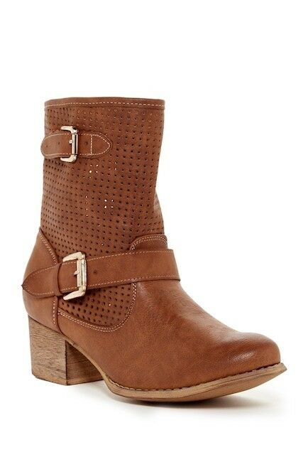 Liliana Shoes Womens Camel Brown Mid-Calf Boots Booties Size 7 Medium (B,M) New