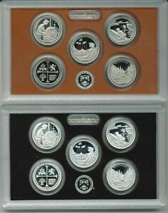2019-US-MINT-5-COIN-AMERICA-the-BEAUTIFUL-SILVER-amp-CLAD-PROOF-QUARTER-SETS-pairs