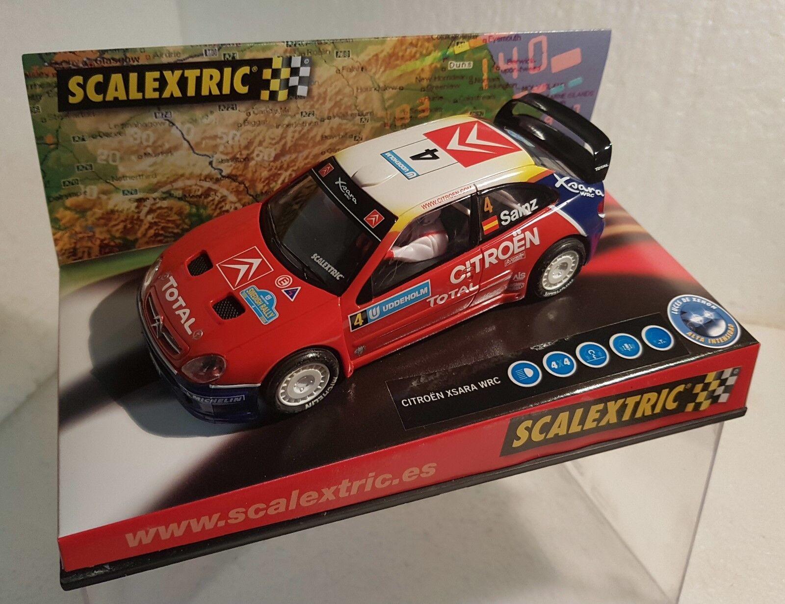 Qq 6151 SCALEXTRIC CITROEN XSARA WRC SWEDISH RALLY 2004 CARLOS SAINZ