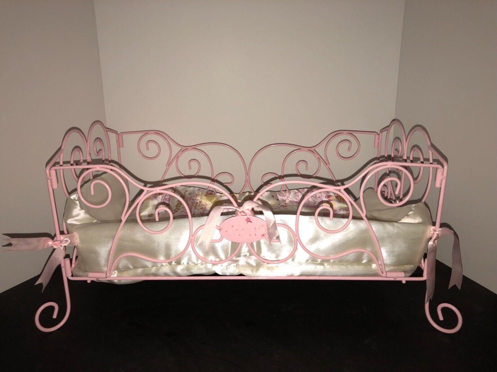 Baby Annabell rosado Metal Cama Deco Estilo con ropa de cama Precio de venta sugerido por el fabricante
