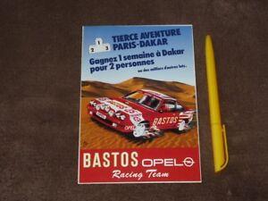 1985 Opel Manta 400 Bastos Team Rally Paris Dakar