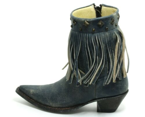305 Cowboystiefel Western Stiefelette Catalan Style Leder Fransen GoWest 36