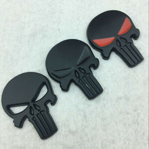 Metal-3D-Punisher-Skull-Car-Emblem-Decals-Auto-Motorcycle-Body-Stickers-Badge
