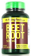 2 BOTTLES Beet Root 120 Capsules 500mg Natural Digestive Aid Healthy Liver Pill
