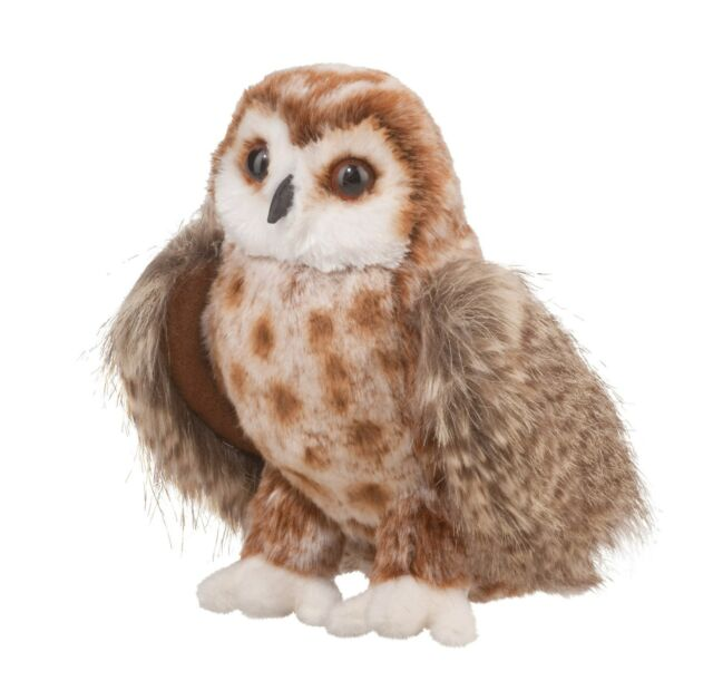 "DOUGLAS 10"" Brown Owl Soft Plush Stuffed Toy Furry Animal 3836 FREE SHIPPING USA"