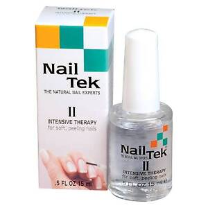 3 Bottles Nail Tek Intensive Therapy 2 Strengthener For Soft Ling Nails 0 5oz
