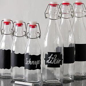 18x glasflaschen mit b gelverschluss glas b gelflaschen leere drahtb gelflasche ebay. Black Bedroom Furniture Sets. Home Design Ideas