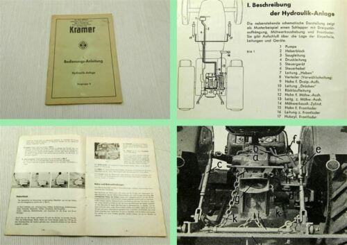 Kramer Hydraulikanlage Schlepper Betriebsanleitung Bedienungsanleitung 1962