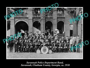 OLD-LARGE-HISTORIC-PHOTO-OF-SAVANNAH-GEORGIA-THE-POLICE-DEPARTMENT-BAND-c1930
