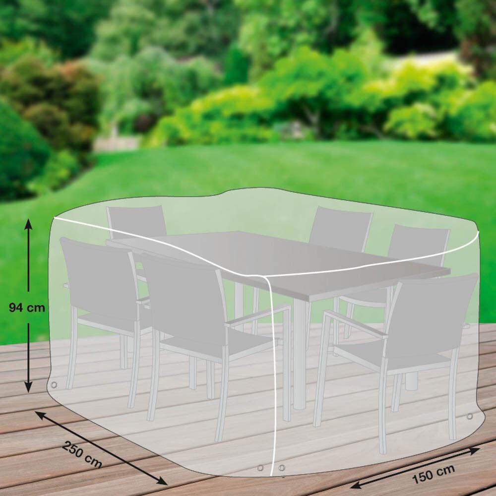 Premium Schutzhülle  mehr Garten  für Sitzgruppe rechteckig 250x150cm.