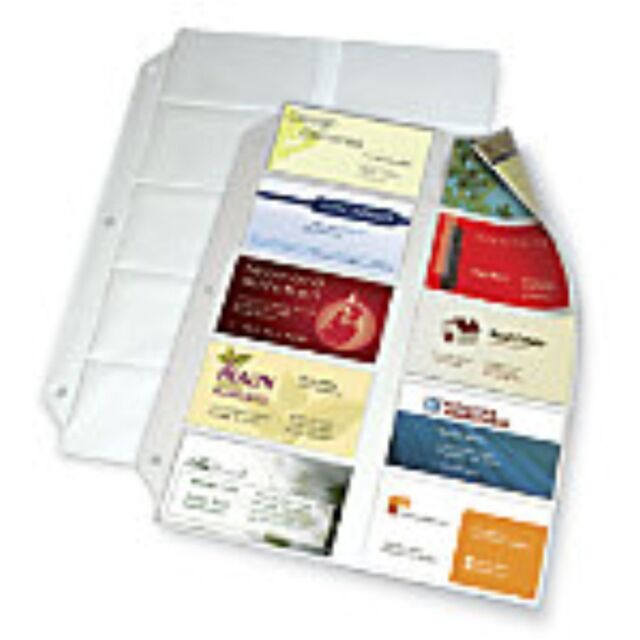 Office Depot Business Card Sleeves For Binders 5pks 50sheets