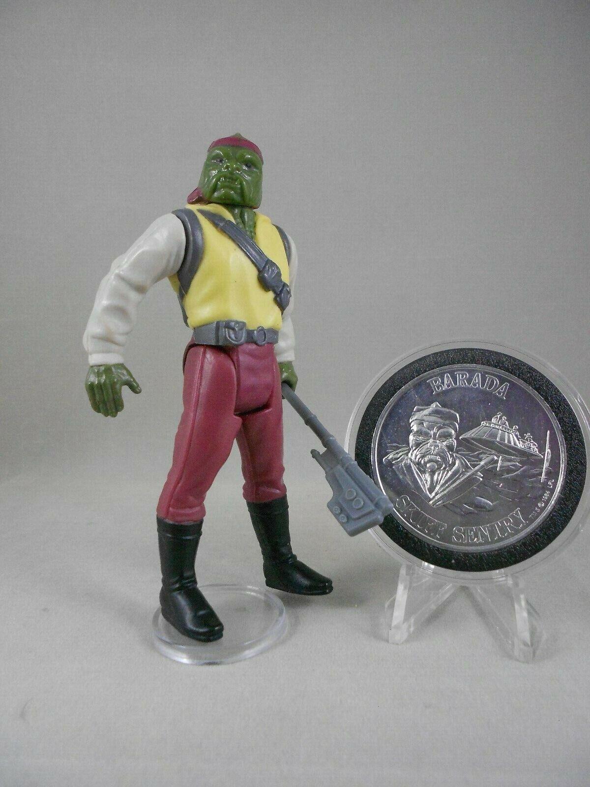 Retro Estrella Wars Potf 1985 Barada-E N Menta  Vintage  completa con Potf Moneda