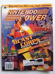 Details about 1997 NINTENDO POWER MAGAZINE VOL 95 BLAST CORPS DOOM 64 MEGA  MAP WITH POSTER