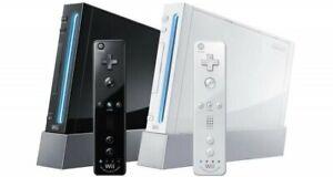 Nintendo Wii Complete Game Console Black / White / RVL 001 / RVL 101! You Choose