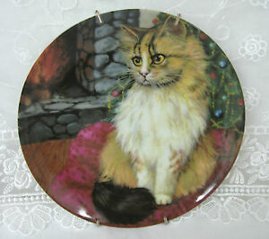 Cats-Collection-Mouse-Cat-Vintage-Plate-Formalities-by-Baum-Bros-w-Wall-Hanger