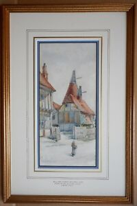Oasthouse-Suffolk-Watercolour-by-listed-artist-William-Henry-Milnes-dated-1894