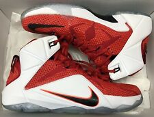 41f1056a883 Nike Lebron XII 12 Shoes Men Size 9.5 Heart of a Lion Red Basketball ...