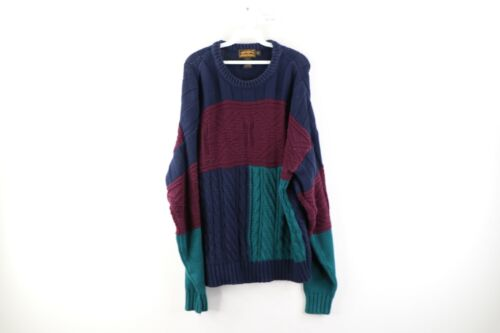 90s Fashion Eddie Bauer Vintage Fashion Mens Fashion Crewneck 90s Style XL Cotton Sweater Sweater Hunter Green