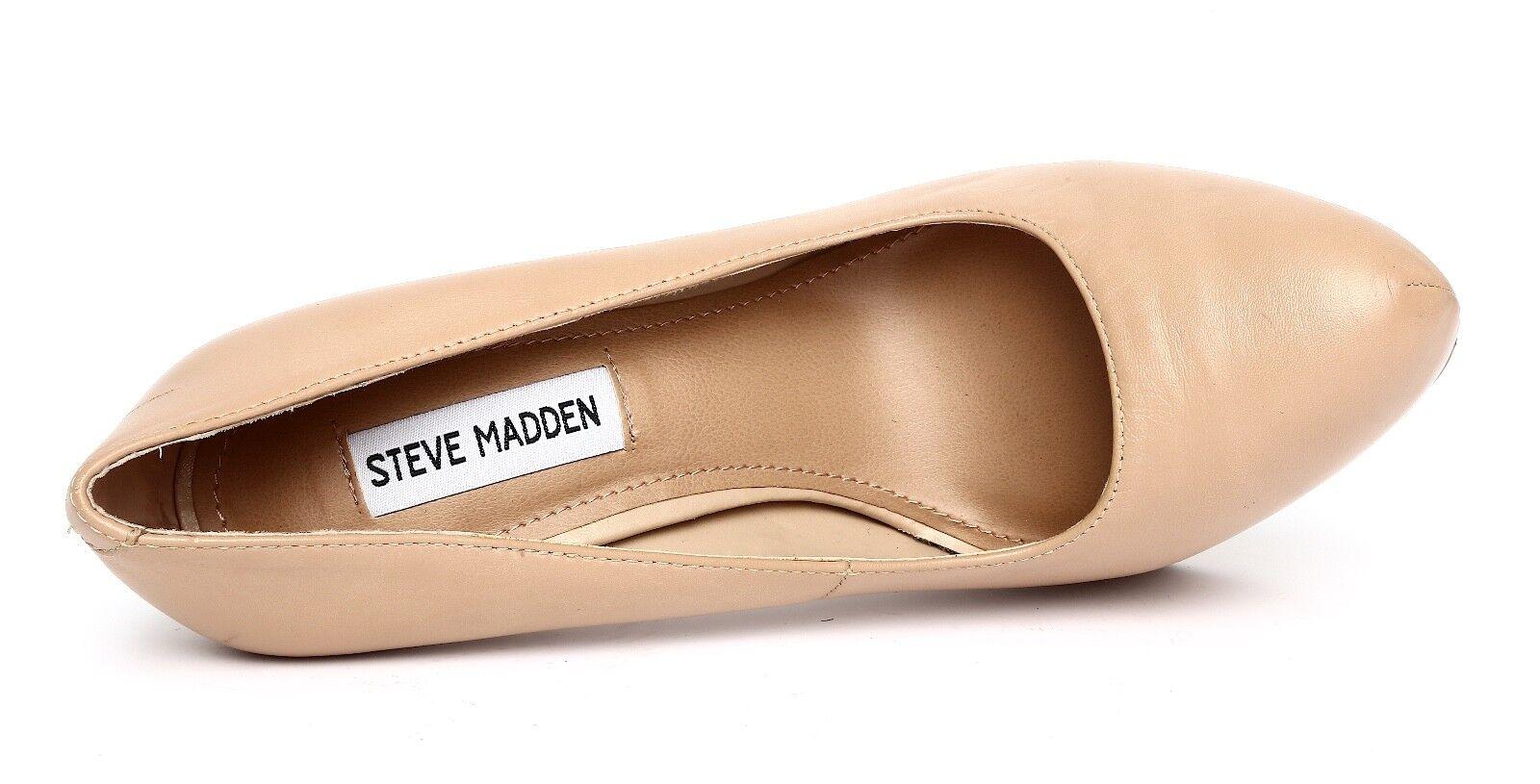 Steve Steve Steve Madden Delerius Beige Platform High Heel Pumps Sz 8 3138 ecd695