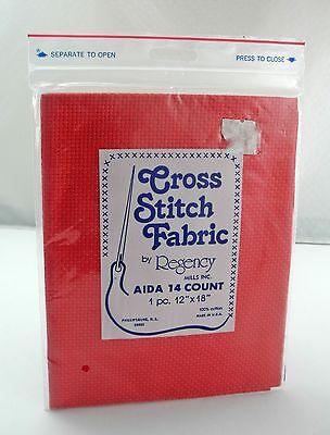 "Regency Mills 14 Count Ecru Aida Cross Stitch Fabric 100/% Cotton 12/"" x 18/"""