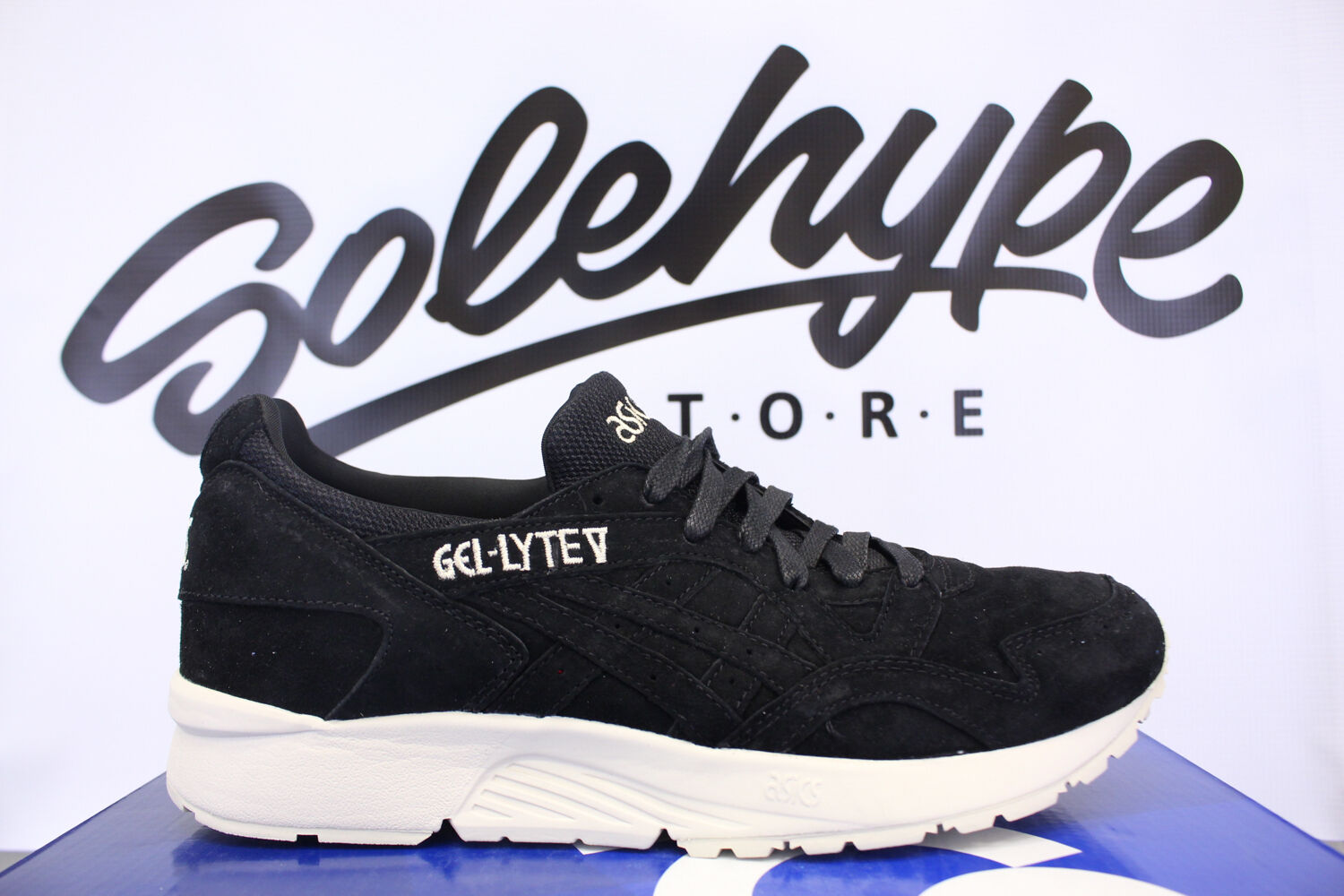 ASICS GEL LYTE V BLACK WHITE H736L 9090 SZ 8