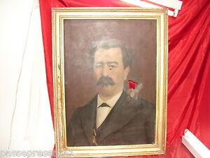 Superbe portrait homme 19 ème- huile sur toile- 1877- Oswald Maru SHk22mUY-07215025-753518853