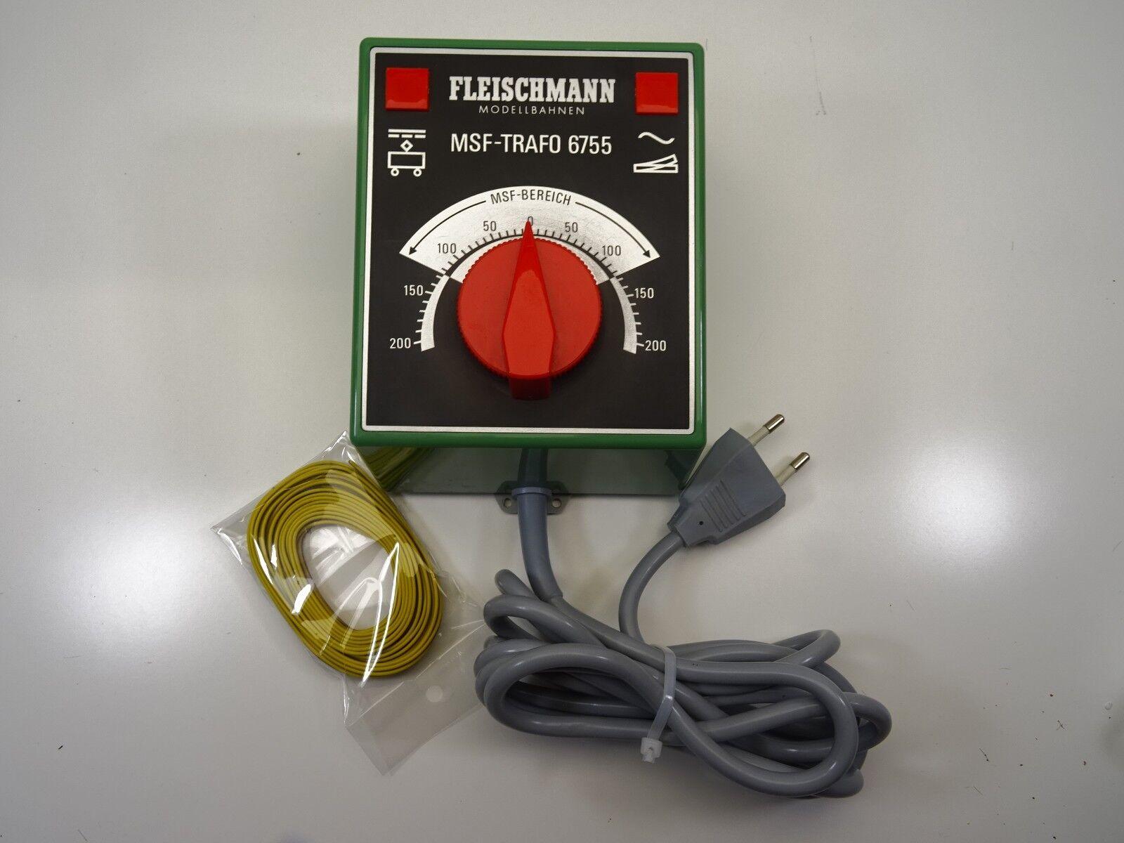 Fleischmann 6755 Trasformatore Trasformatore il grande + 5m Cavo di collegamento top c3597