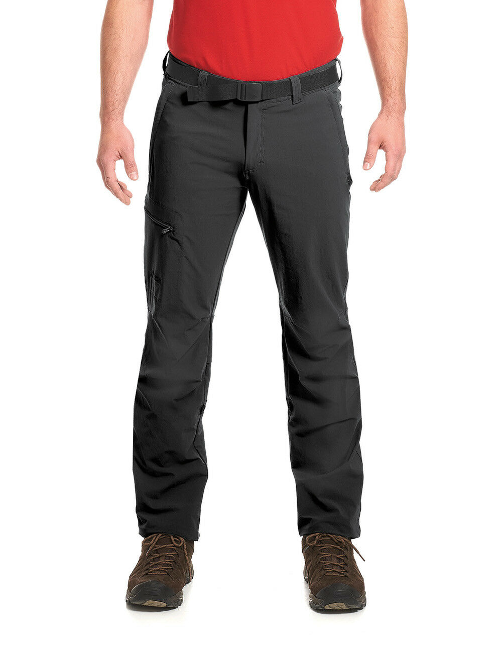 Maier Sports Herren Wanderhose NIL mit Roll-up-Bein 132001 schwarz / Outdoor Hos