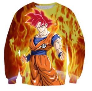 New Women Men Dragon Ball Z Goku 3D Print Casual Hoodie  Sweatshirt Pullover Top