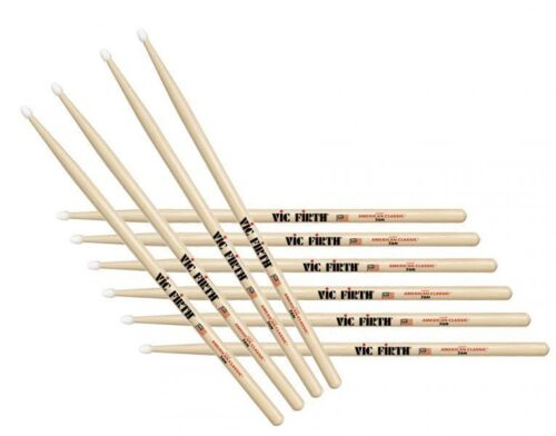 VF-7AN x5 Pairs Five Pairs Vic Firth Drum sticks USA Classics 7A Nylon Tip