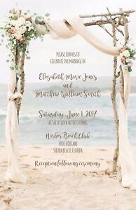 wedding invitations beach arbor beach destination wedding 50