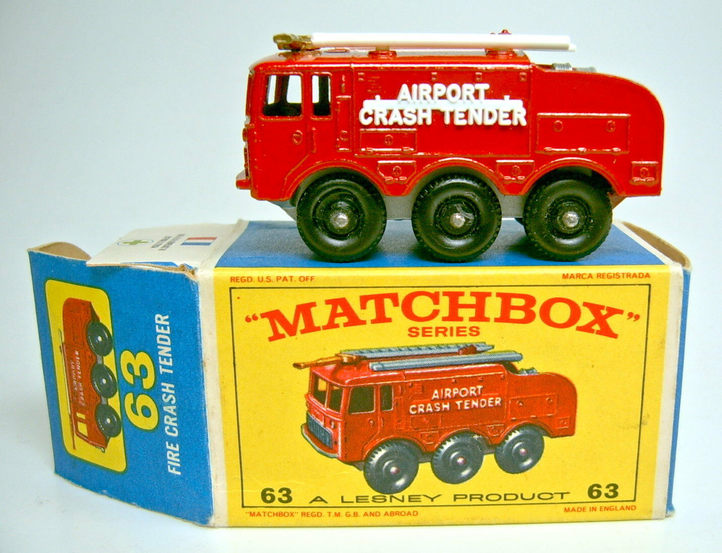 MATCHBOX rw 63b 63b 63b foamite crash tender sans suspension dans  e2  BOX fcbb7f
