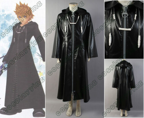 Kingdom Hearts Cosplay Costume Organization XIII 2-WAY-BIG-ZIPPER Cloak Coat