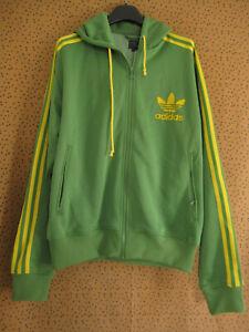 Veste Adidas à Capuche Originals vert jaune Jacket Trefoil Homme vintage - L