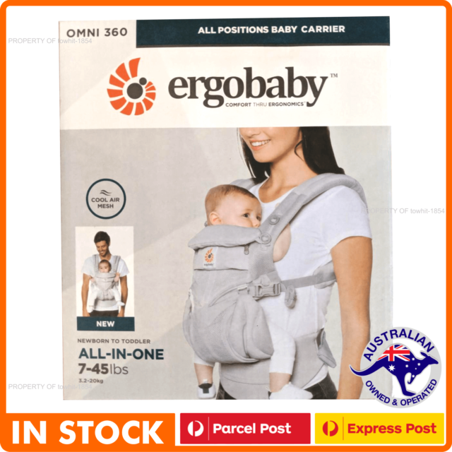 ERGOBABY 360 OMNI COOL AIR MESH ERGO BABY Carrier Pearl Grey colour