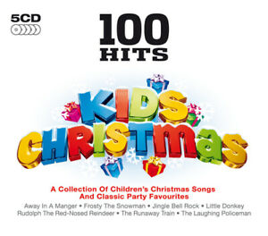 Various-Artists-100-Hits-Kids-Christmas-CD-Box-Set-5-discs-2011-NEW