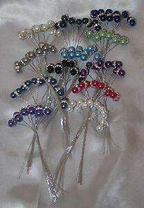 Faberge cristaux & 8 mm Perles sur fil bridal bouquet de fleurs bijoux mariage  </span>
