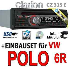 vw polo 6r clarion bluetooth usb cd mp3 aux in. Black Bedroom Furniture Sets. Home Design Ideas
