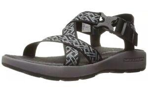 Skechers-Sport-Men-039-s-Outdoor-Adjustable-Fisherman-Sandal-Black-Charcoal-10-M-US
