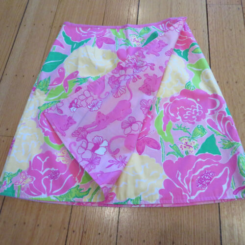 Lilly Pulitzer Cotton Reversible Wrap Skirt Pink G
