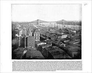 "Brooklyn Bridge New York / United States Capitol Washington USA 1897 PRINT - France - Commentaires du vendeur : ""RECTO-VERSO"" - France"