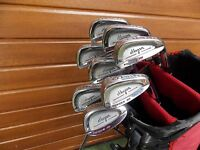 SET OF BEN HOGAN FORGED GS IRONS 3-S STEEL APEX 3 SHAFTS GOLF 8 CLUBS INC EDGE