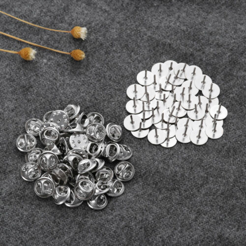 50pcs Butterfly Clutch Tie Tacks Blank Pins with Clutch Back