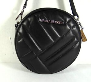 06880df5fcfe42 Image is loading Michael-Kors-Medium-Vivianne-Canteen-Quilted-Black-Leather-