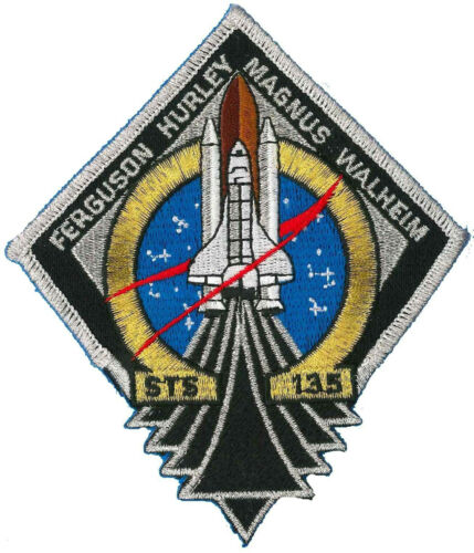 5 INCHES x 4 INCHES Human Space Flights STS-135 PATCH NEW!