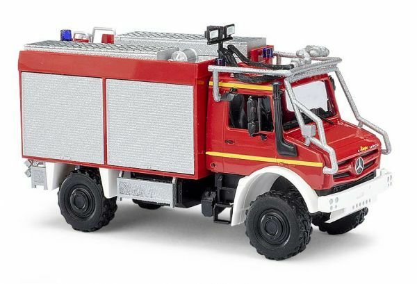 Busch 51053 - 1 87 h0 Mercedes-Benz Unimog U 5023 avec astabweisern-Pompiers
