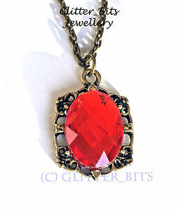 Vampire diaries bonnie bennett red crystal necklace pendant witch la imagen se est cargando vampire diaries bonnie bennett cristal rojo collar colgante aloadofball Images