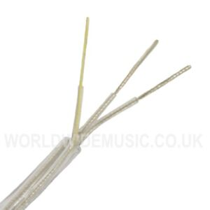 ROUND-3-Core-Crystal-Clear-Transparent-Electrical-Lighting-Cable-0-75mm-6-amp