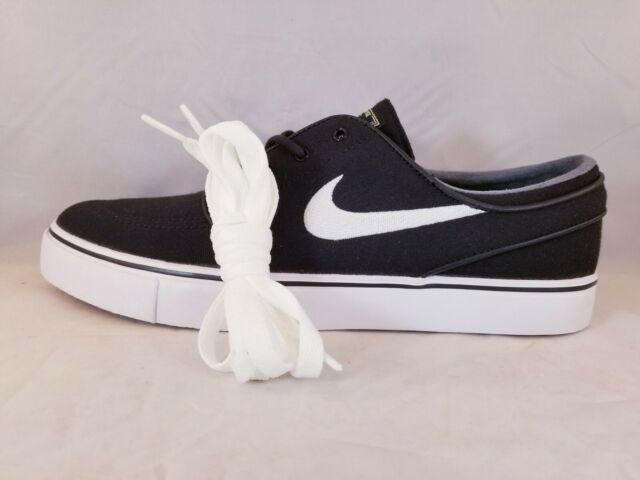 a44aa65d02cba Nike Zoom Stefan Janoski CNVS Black/White Men's Skate shoe 615957 028 Size 9