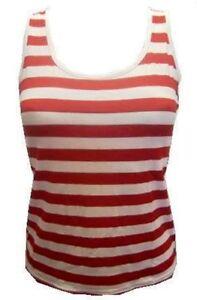 rojo-y-Blanco-Rayas-Camiseta-disfraz